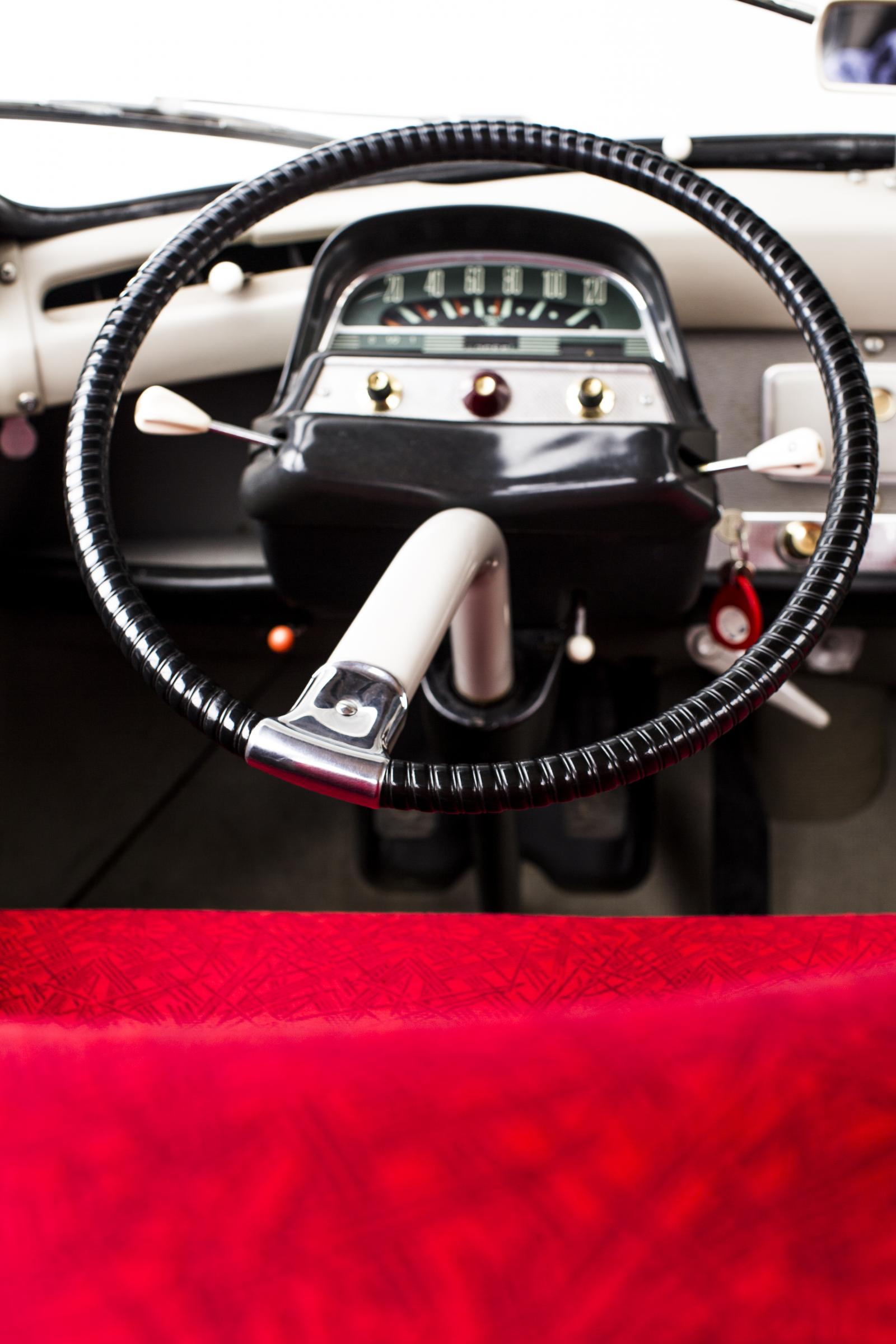 AMI 6 fabric detail and steering wheel