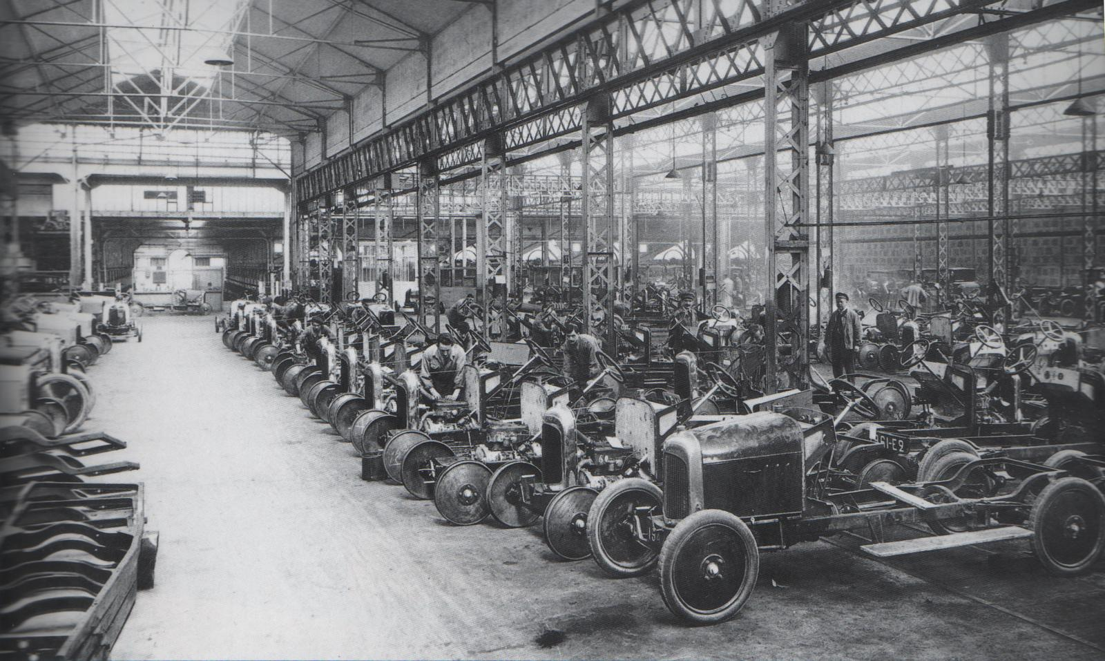 Type A production line at Quai de Javel